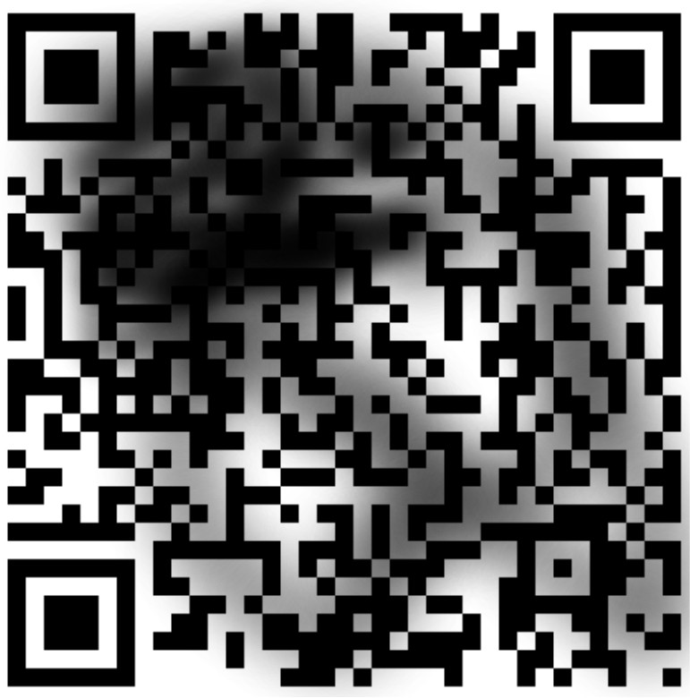 Dirty QR code example