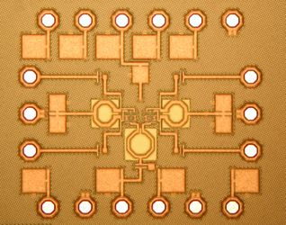 Photo of a CMOS chip