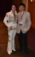 Photo with Elvis Presley during Awards Banquet